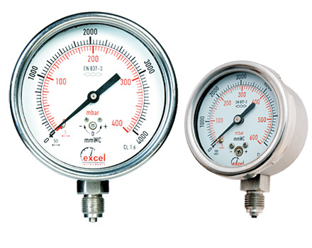 All SS (SS 304) / (SS 316) Pressure Gauge - Capsule type