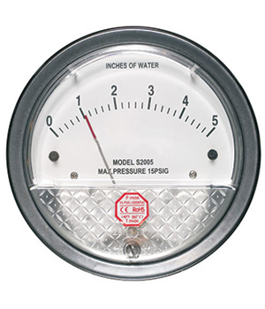 Low Pressure Differential Pressure Gauge