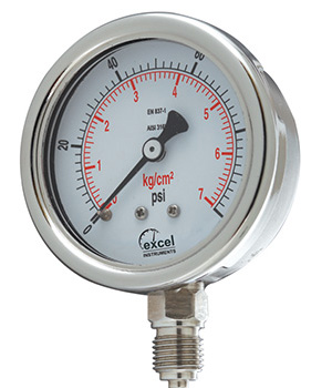 SS Case Internal Brass Pressure Gauge